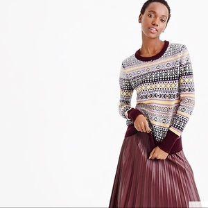 J. Crew Fair Isle Sequin Sweater NWT size large